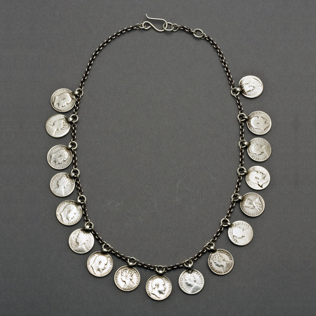1f5c842533cff Silver coin necklace online india : Suretly ico kotoo show